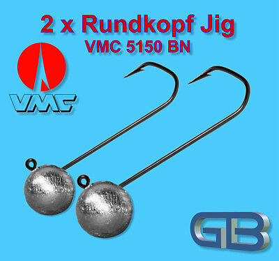 2 x vmc Barbarian gigue 5150 BN 3//0 8g 10g 13g tube gigue jighaken eriekopf bleikopf