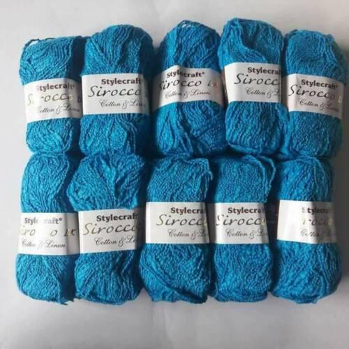 Stylecraft Sirocco DK 80/% Coton /& 20/% lin 1 x 50 g