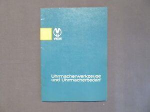 Katalog Uhrmacherwerkzeuge Und Uhrmacherbedarf, Ddr 1966, Mit Preise GroßE Sorten