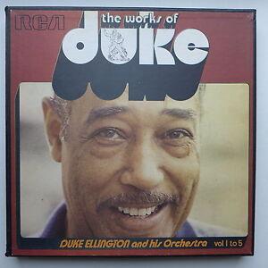 5-LP-Duke-Ellington-The-Works-Of-Duke-Integrale-Volume-1-to-Volume-5