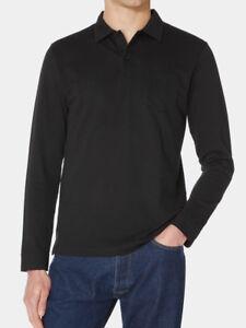 2bbe557e494a SUNSPEL RIVIERA LONG SLEEVE POLO SHIRT IN BLACK - BNWT - RRP £105 | eBay