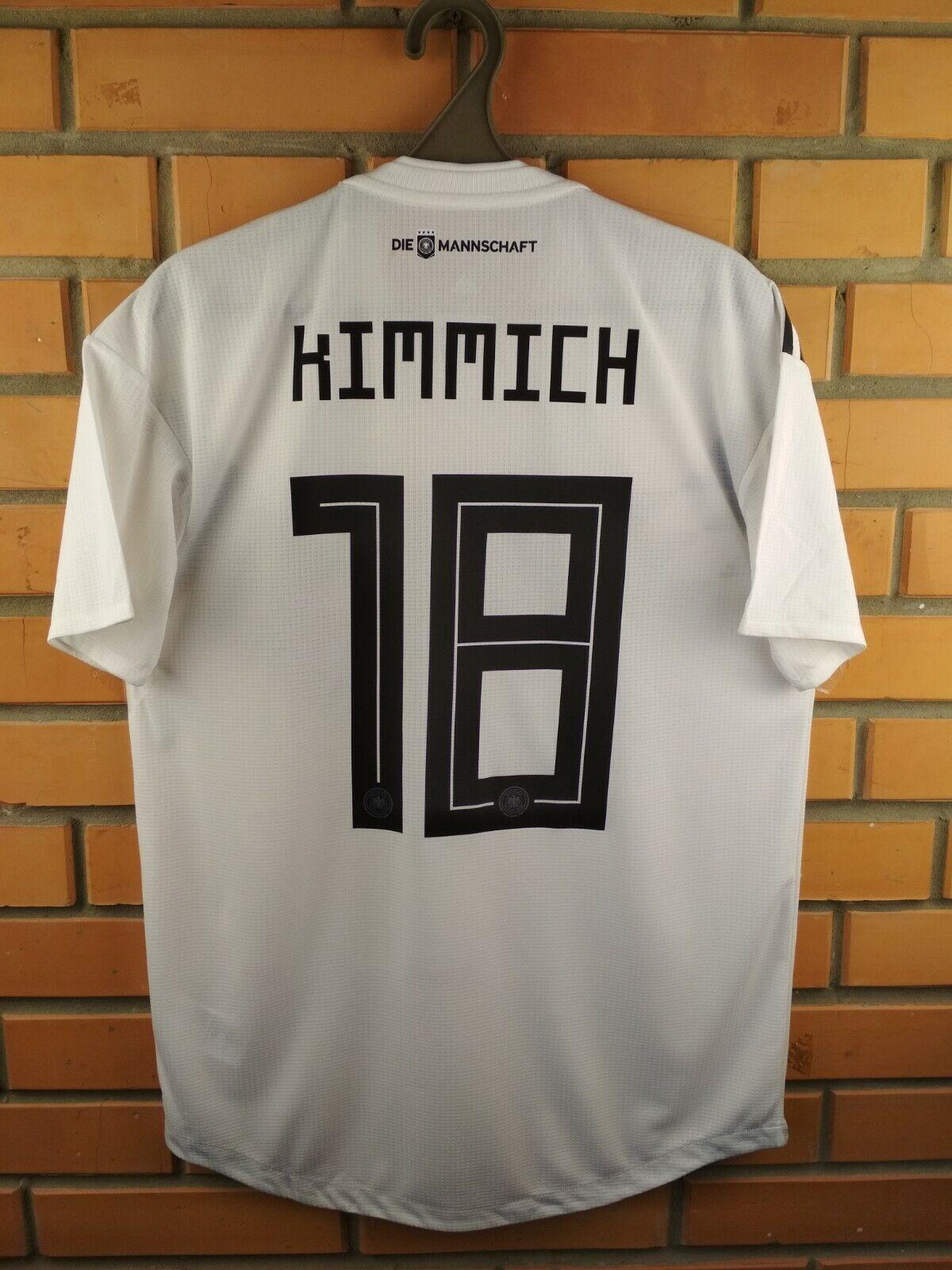 Camiseta Talle Medio 2019 Kimmich Alemania Auténtico Camisa BR7313 Fútbol Fútbol Adidas