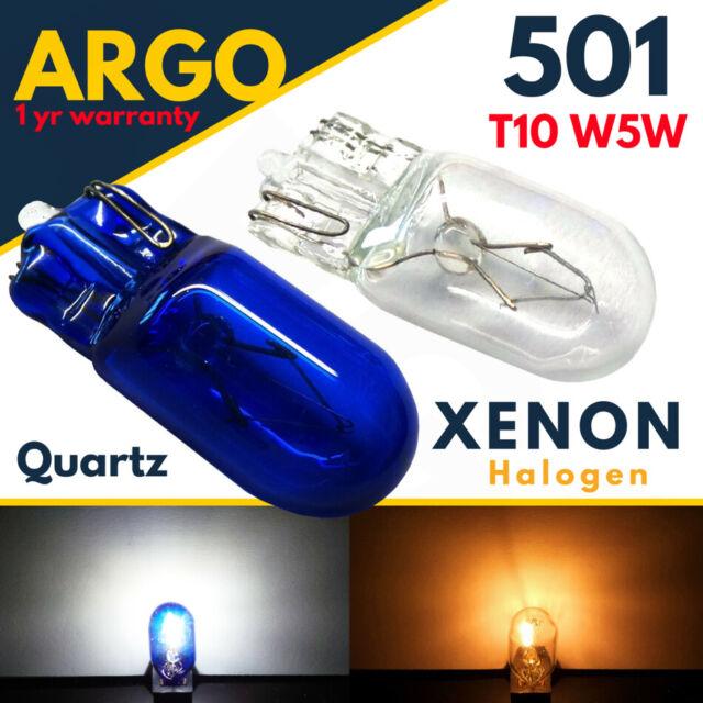 2x New Amber Glass T10 501 W5W Sidelight Bulbs halogen bulb upgrade UK