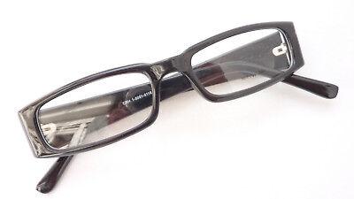 2019 Neuestes Design Schwarze Brille Fassung Plastik Schmal Auffallend Breite Bügel Occhiali Grösse M
