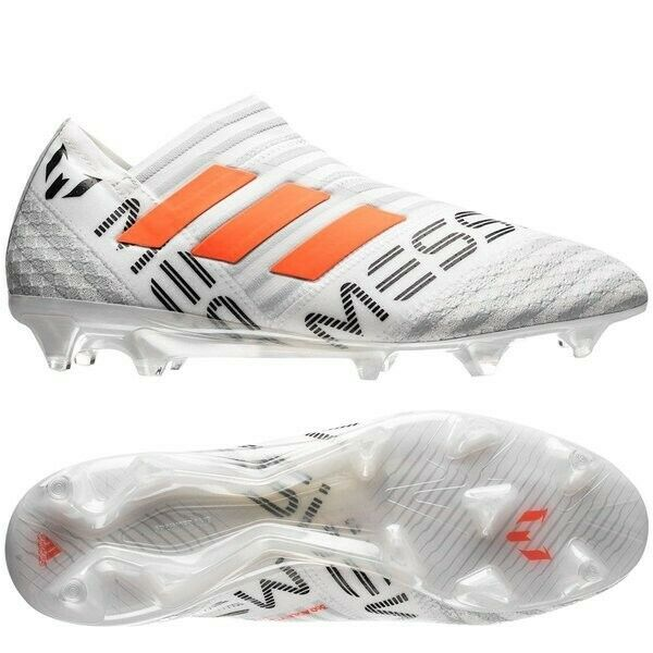 Adidas Nemeziz 17+ Messi FG Soccer schuhe Men US 11 BNIB New Weiß Orange grau