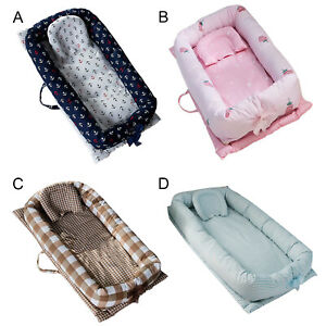 Tragbare-waschbare-atmungsaktive-Baumwolle-Baby-Lounger-Nest-fuer-0-24-Monate