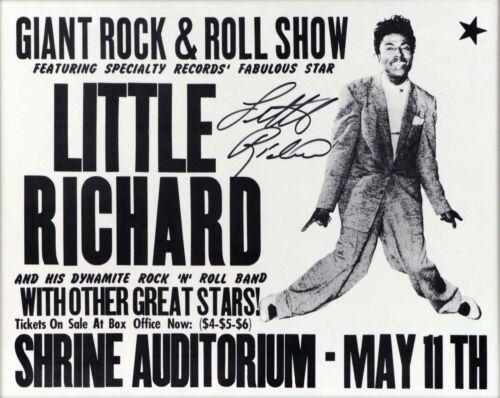 0608 Vintage Arte Cartel De Música-Little Richard en santuario auditorio