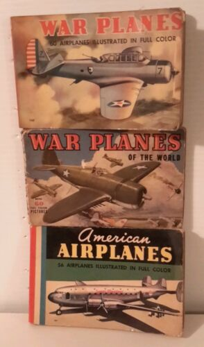 1940s AmericanWar Planes Small Book Set of 3Illustrated64 pgsFREE S&HM3495
