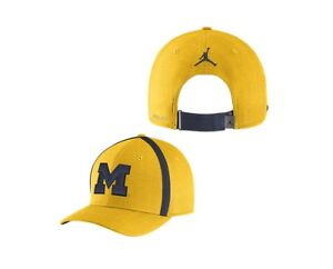 617defdbf Details about New Nike Air Jordan University of Michigan Aerobill Sideline  Coaches Dri-FIT Hat