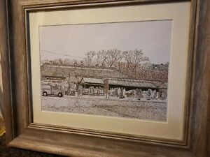 Framed-Rawtenstall-Market-limited-edition-print-of-my-pen-and-ink-drawing