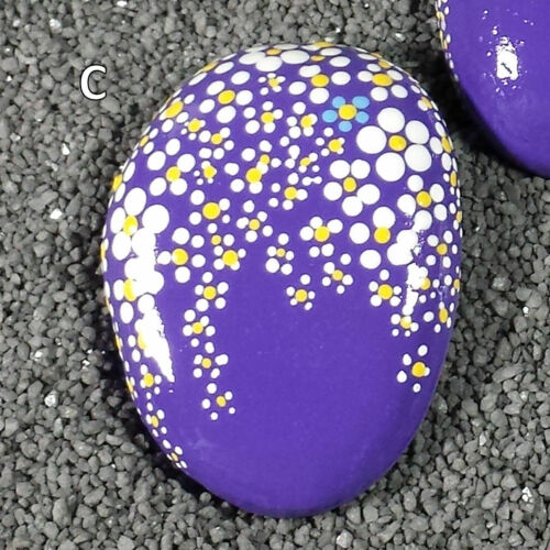"RP59 2.6/"" to 2.9/"" Rock Painting Hand Painted Rock Your Choice Spring Flowers"