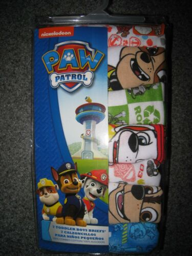 NIP BOYS PAW PATROL 7 PACK PAIRS OF BRIEFS UNDERWEAR SIZE 2T 3T I SHIP EVERYDAY