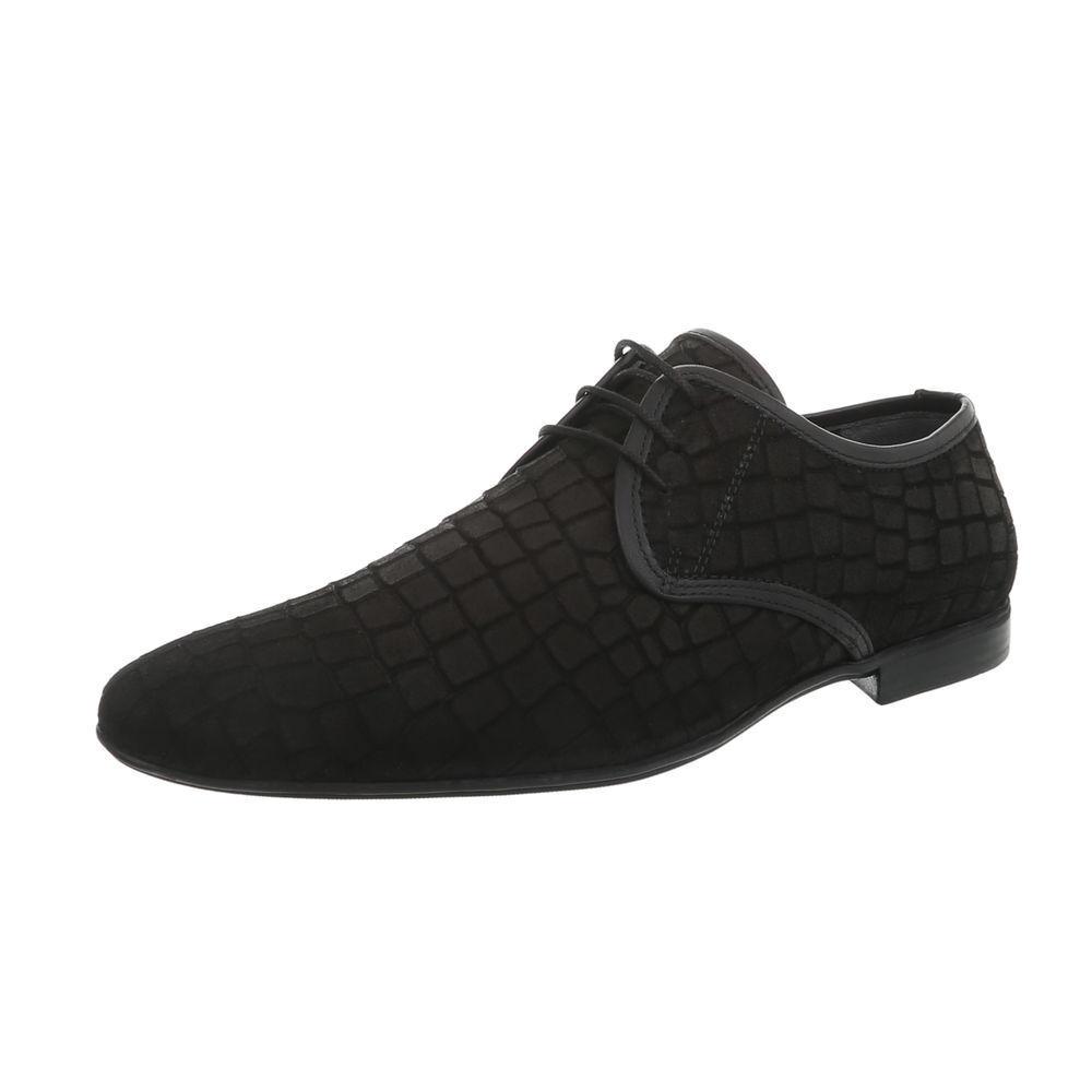 Cuero con cordones caballero Business-zapatos caballero cordones zapatos nuevo de diseño negro 9355 3aa5bb