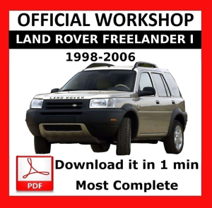 official workshop manual repair land rover freelander 1998 2006 ebay rh ebay ie 1998 land rover freelander owners manual 1998 range rover owners manual