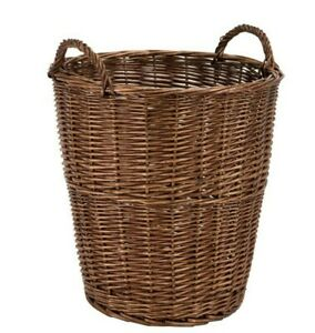 Soigneux W And S Wickers And Straw Wicker Dark Brown Wicker Storage Bin - Plain
