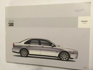 VOLVO-S80-OWNER-MANUAL-DRIVER-HANDBOOK-2005-PETROL-DIESEL-TURBO-T6-D5-AWD-MODELS