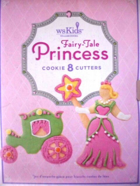 Williams Sonoma Kids Fairy Tale Princess Cookie Cutters Set Of 8