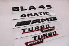 "2018 Flat Chrome /""GLA45 AMG BITURBO AMG/""  Emblem Badge Sticker for Mercedes Benz"