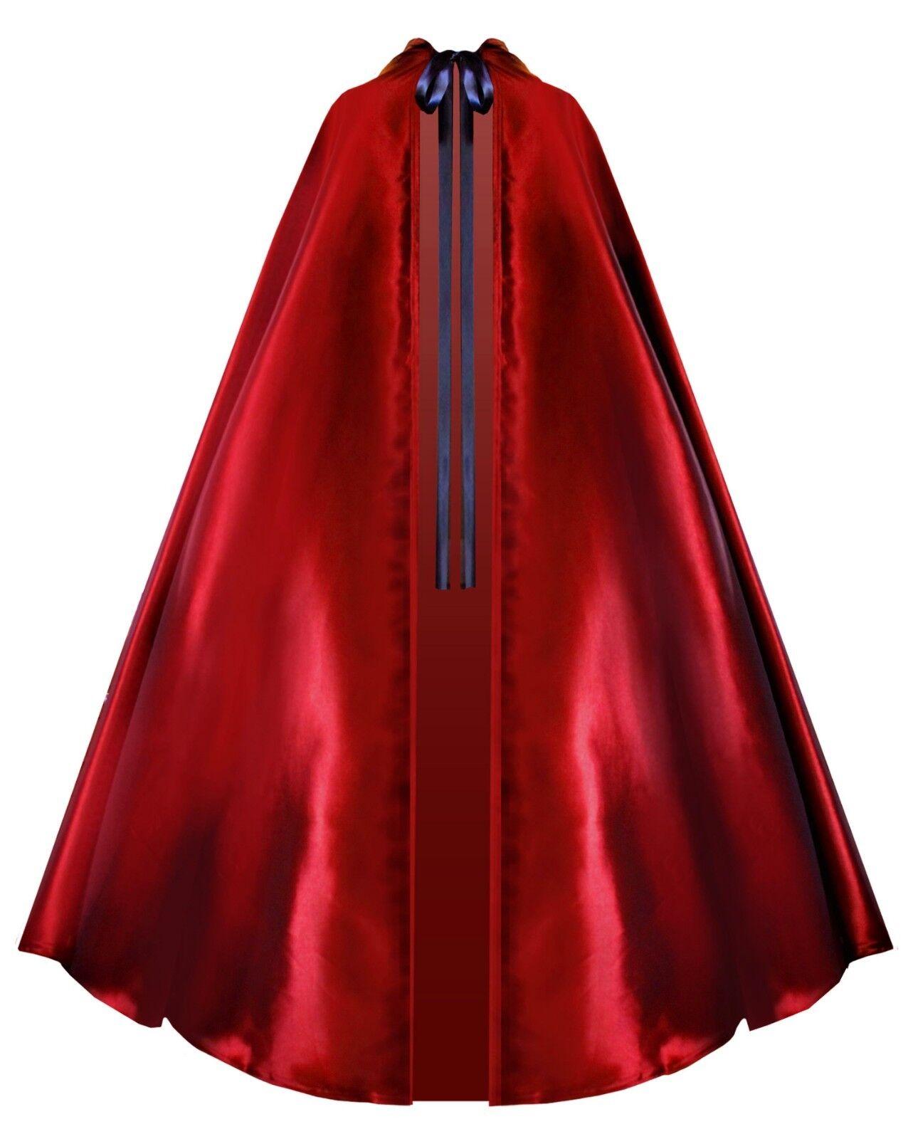 Victorian Gothic Historical Steampunk Pirate Taffeta Hooded Cape Cloak