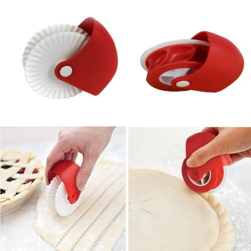 Pizza Pastry Lattice Cutter Pastry Pie Decoration Cutter Wheel Roller magic