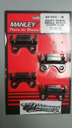 "Manley 42151-8 SBC 5//16/"" Pushrod RAISED Guideplates Small Block Chevy"