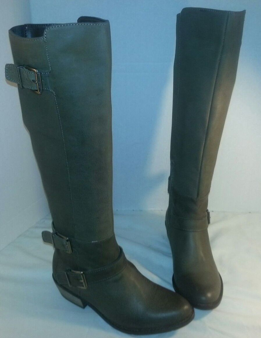 NEW  DOLCE VITA STONE CAMBRIDGE KNEE HIGH LEATHER RIDING BOOTS WOMEN'S SIZE 6