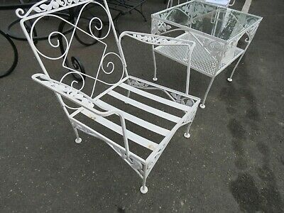 Vintage Meadowcraft Wrought Iron Patio, Vintage Wrought Iron Patio Furniture Brands