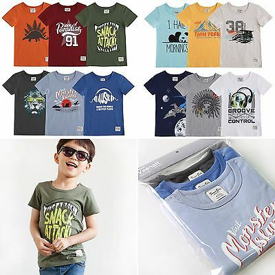 "Vaenait Baby 2T-7T Infant Clothes Short Toddler Kids Top Boys /""Printing T 3set/"""
