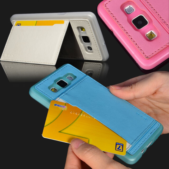 S-CH TPU PU Leather Card Wallet Case Cover For Samsung Galaxy A5 2015 Back cover