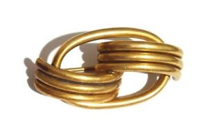 Mid-Century-Brooch-Brass-Vintage-Pin-Modernist-Jewelry-Art-Rare-Hand-Made-Modern