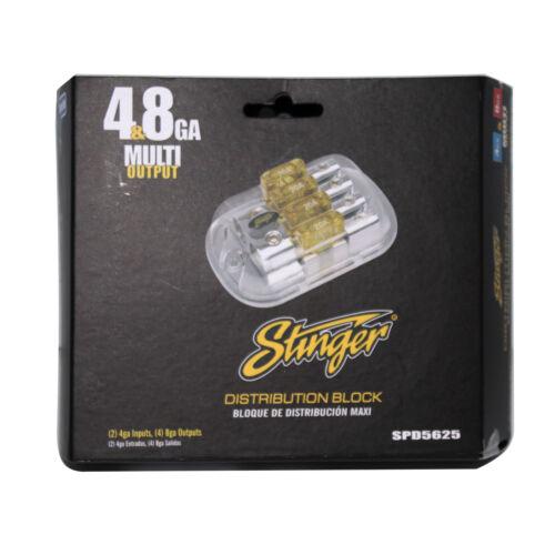 8 Gauge Outputs 4 GA Inputs 2 4 Stinger SPD5625 Maxi Distribution Block
