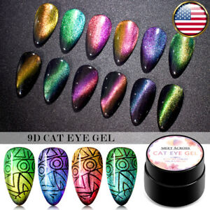 6X-5ML-MEET-ACROSS-9D-Cat-Eye-UV-Gel-Nail-Polish-Soak-off-Magnetic-Varnish-Kit