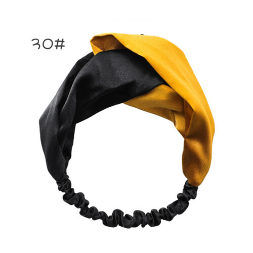 Korean Style Bandeau Turban Twist Cross Serre-tête Bandeau Floral élastique nœud