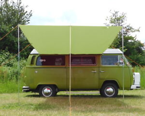 Image Is Loading VW Campervan Sun Canopy Awning T2 T25 Connection