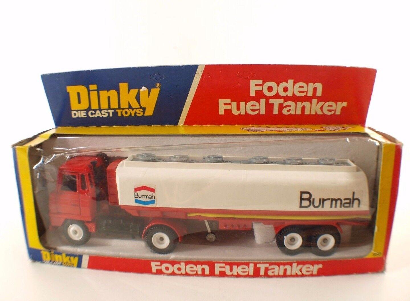 Dinky Juguetes GB n° 950 FODEN Semi-remorque citerne BURMAH camion tanker en boite