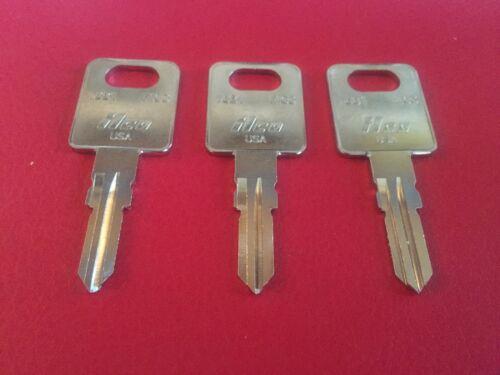 Motorhome Door Lock Key 3 FIC RV Code Cut Keys CF301 to CF351  Travel Trailers