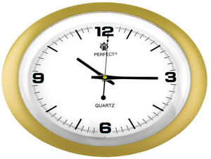 Oval-Wall-Clock-PERFECT-silent-sweep-modern-design