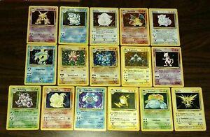 OLD-Vintage-Wotc-Pokemon-10-Card-LOT-1st-Edition-Holo-Rare-Gem-Mint-PSA-Quality