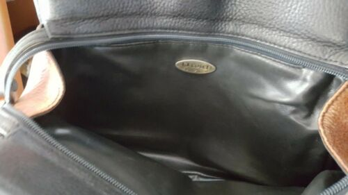 per nera marrone e Cosci in Manico borsa pelle a spalla PxSEnwaq0