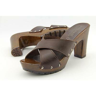Italian Shoe Makers Caterina Women US 10 Brown Sandals Pre Owned  1220