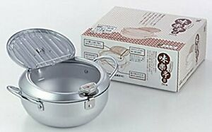 Yoshikawa Japan made Tempura Pan Fryer with Thermometer 20cm SJ1024