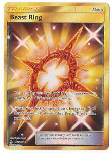 Anillo-De-Oro-141-131-rara-secreta-de-bestia-Pokemon-TCG-S-amp-M-prohibido-Luz-Nuevo