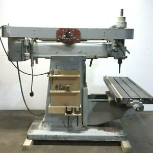 Ekstrom Carlson 540 M18 Mill 18x48 Table Pattern w/Tooling F