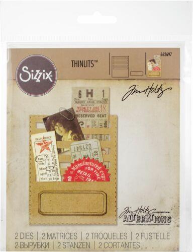 662697 Sizzix Thinlits Dies By Tim Holtz Stitched Slots