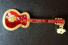 HRC Hard Rock Cafe Tokyo Calendar Guitar Series 2000 July Red Acoustic LE
