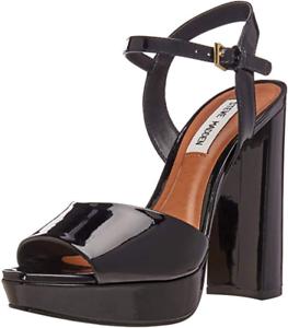 db65e2a0816 Steve Madden Kierra Women's Black Patent Leather Platform Sandal Sz ...