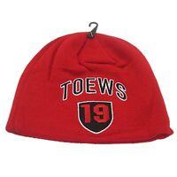 Nhl Jonathan Toews Winter Hat Toque Beanie Red Chicago Blackhawks Nhlpa