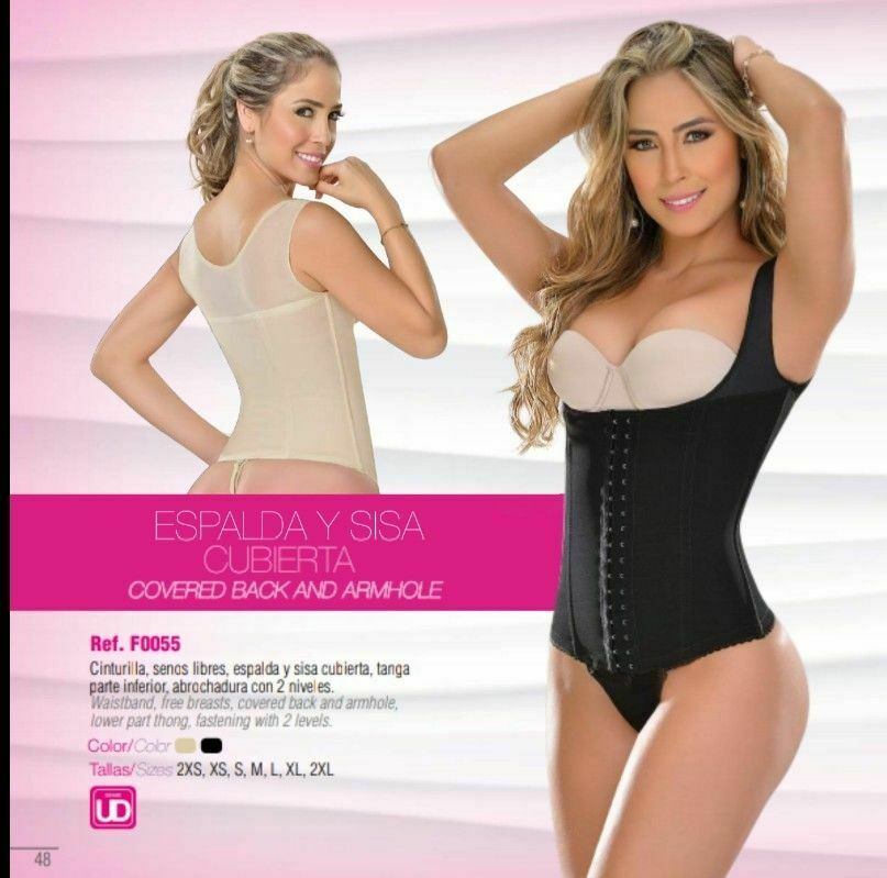 Fajas Colombianas Waist Cincher Vest With Removable Thong M&D 0055 Powernet Slim