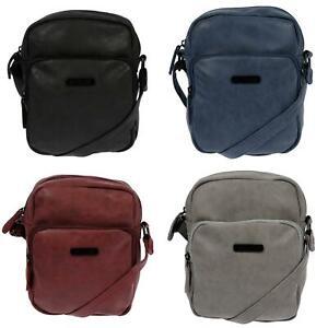 Kleine-praktische-Herren-Damen-Tasche-Schultertasche-Umhaengetasche-Crossover-Bag