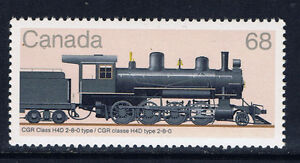 Canada-1074-1-1985-68-cent-LOCOMOTIVES-CGR-CLASS-H4D-2-8-0-TYPE-TRAIN-MNH